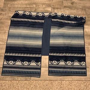 Woolrich Reversible Aztec Shawl Wrap